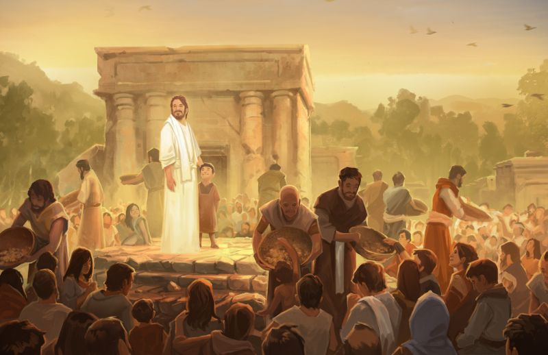 Christ with the Nephites
