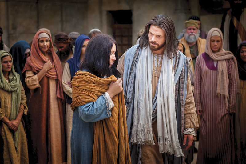 Christ ministering to the woman taken in adultery
